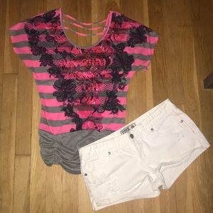 Daytrip Pink and Black Top